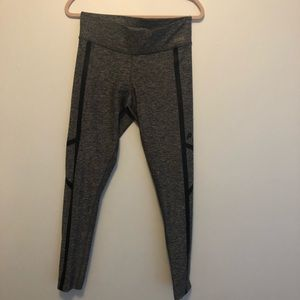 Gray PINK athletic leggings with black detailing